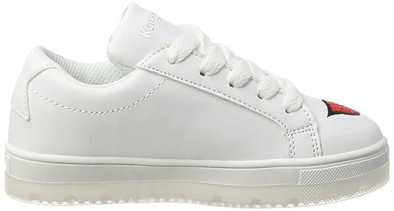 KangaROOS Unisex-Kinder K-Kiss JR Sneaker, Weiß (White), 32 EU