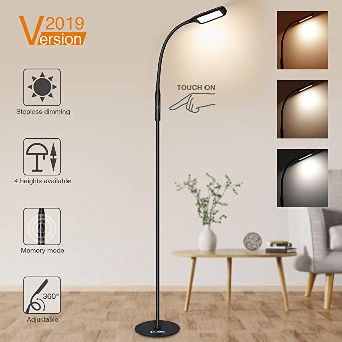 Barrina LED Floor lamp with Dimmable and Color Adjustable 3000K-5500K 12W