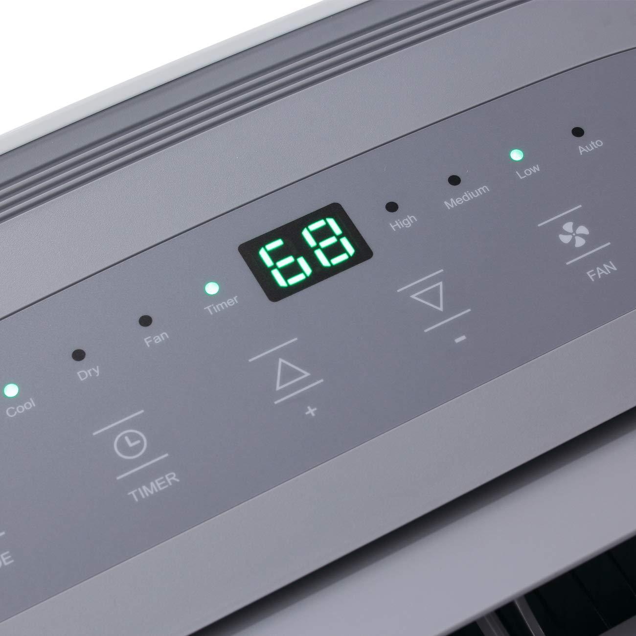 DELLA 14000 BTU Portable Air Conditioner 157 Pint ...