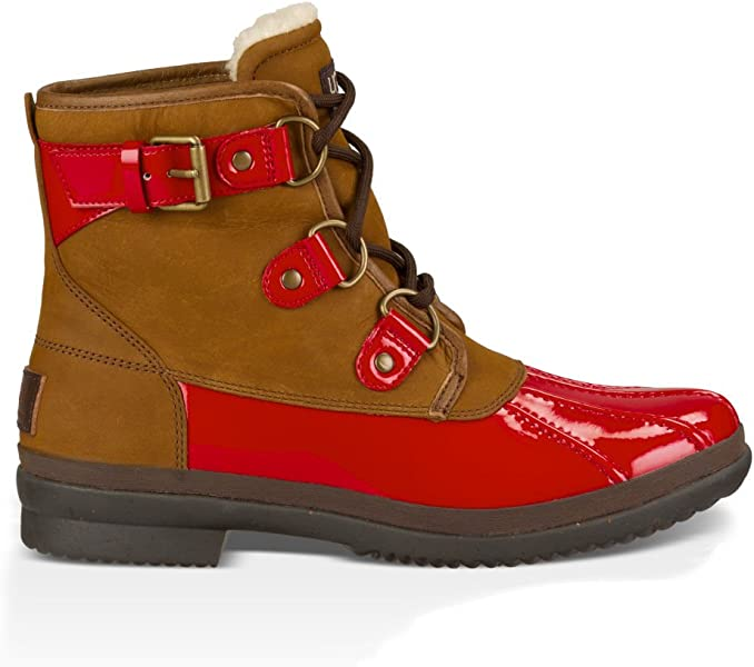 4b3473cb4846e UGG Women's Cecile Winter Boot, Red, 9 B US: Amazon.co.uk: Shoes & Bags