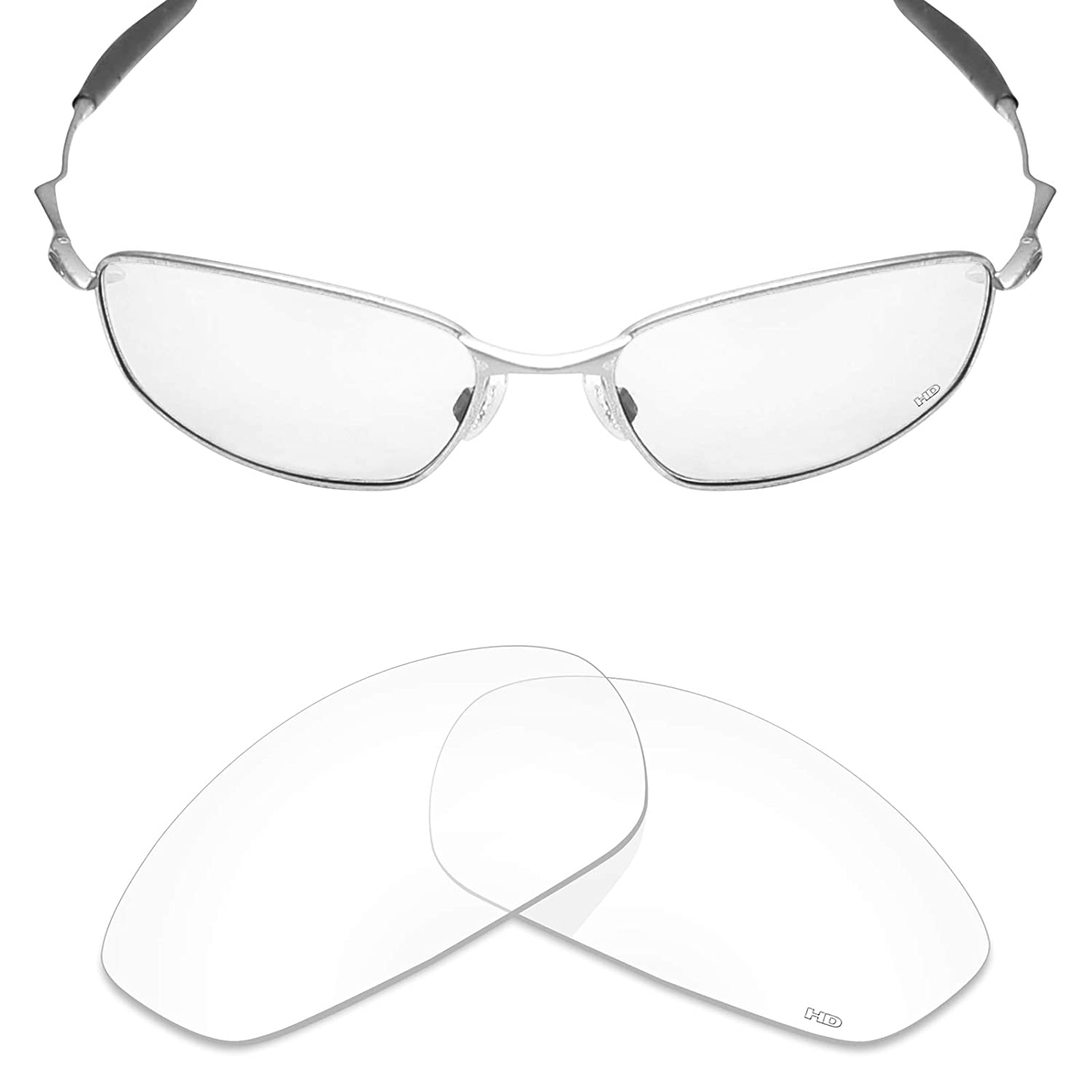 2ae2b400b23 Amazon.com  Mryok+ Polarized Replacement Lenses for Oakley Whisker - HD  Clear  Clothing