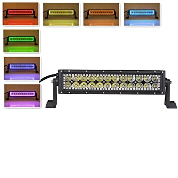 61Ph6LyEhbL._SY355_ amazon com nicoko 10 12 inch 72w led work light bar with rgb halo 12 inch led light bar with wiring harness at gsmx.co