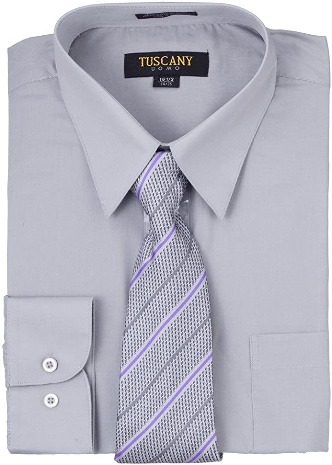 Camisa de vestir para hombre con corbata de misterio, color gris ...