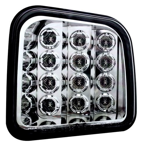 (IPCW LEDC-346C Crystal Clear LED Front Park Signal Lamp - Pair)