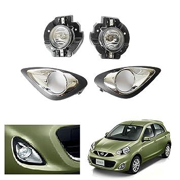 auto-tech lámpara de niebla para Nissan Micra 2013 - 2015 luz antiniebla delantera kit de montaje (1 par): Amazon.es: Coche y moto