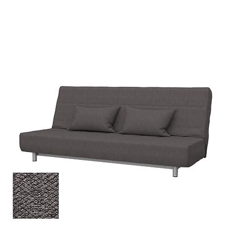 Soferia - Replacement Cover for IKEA BEDDINGE 3-seat Sofa-Bed, Nordic Dark  Brown