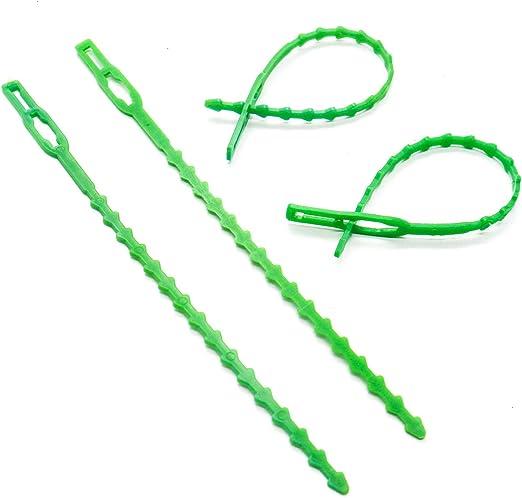IDS Paquete de 100 Tiras de Corbata de plástico Flexible para ...