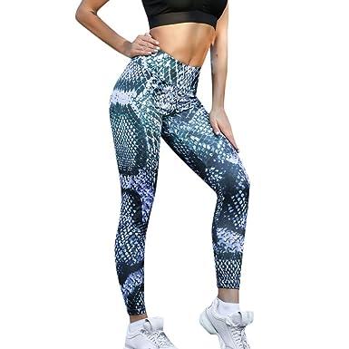 0b511f5262d277 Womens High Waist Yoga Pants Snake Print Legging Tummy Control Sports  Running Pants Trouser: Clothing