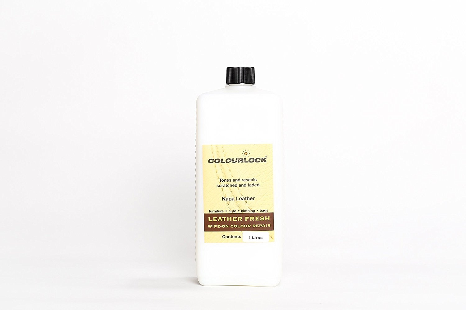 COLOURLOCK Leather Fresh dye is a DIY Repair Color, dye, restorer for scuffs, small cracks on car seats, sofas, bags, settees and clothing - 1 Litre F025 by Colourlock (Image #1)
