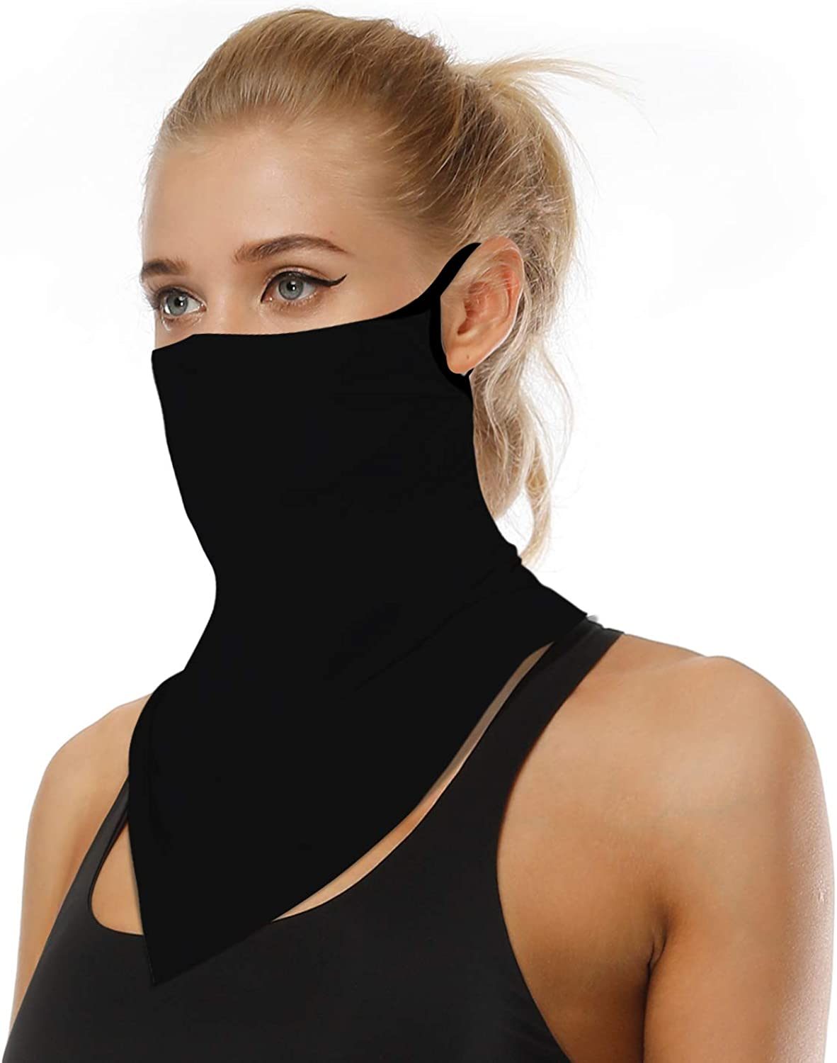 VICHYIE Face Bandana Ear Loops Face Balaclava Men Women Neck Gaiters for Dust Wind Motorcycle