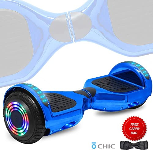 TechClic 6.5 Hoverboard Electric Self Balancing Scooter LED Hoverboard Self Balancing Scooter