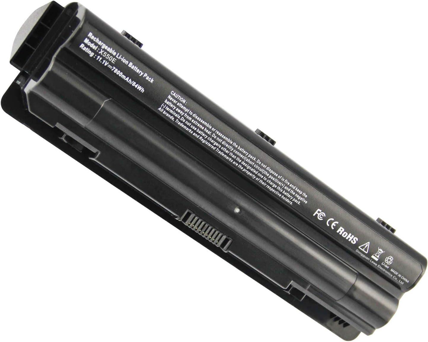 7800mAh Laptop Battery for Dell XPS 17 L701X/ L702X XPS 15 L501X/ L502X XPS 14 L401X J70W7 JWPHF R795X WHXY3 312-1123 312-1127 453-10186
