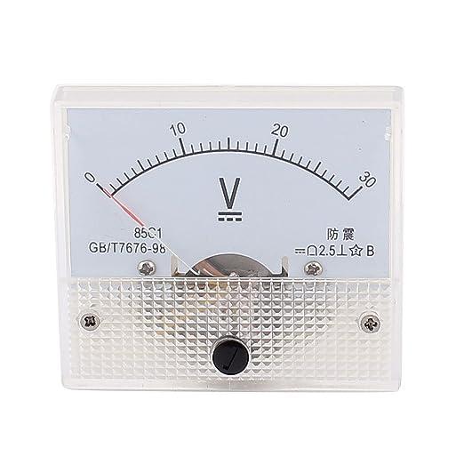 AC 30V Analog Panel Volt Voltage Meter Voltmeter Gauge 85L1 0-30V AC White