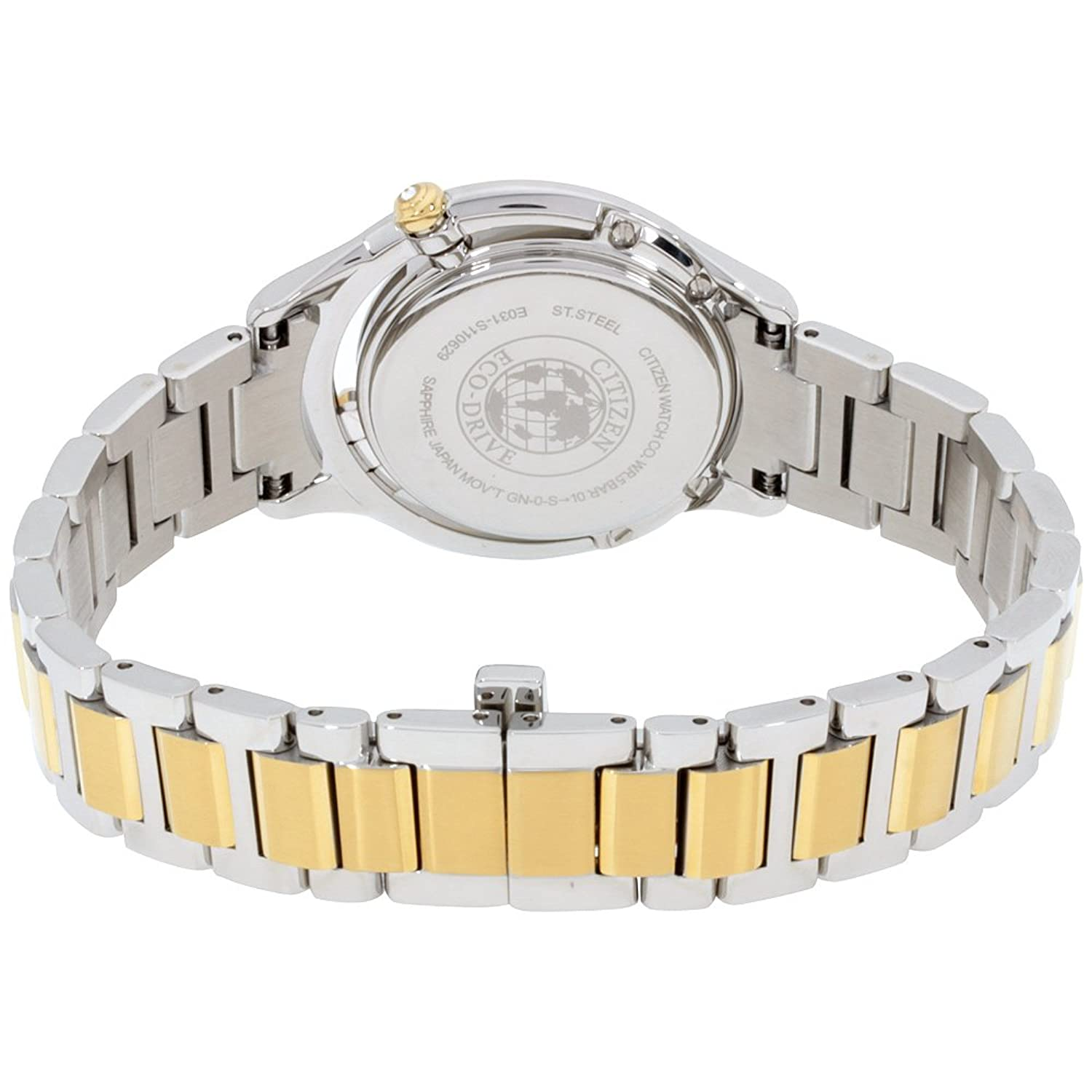 Amazon.com: Citizen L Sunrise LS Mother of Pearl Dial Diamond Stainless  Steel Ladies
