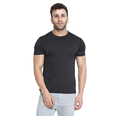 e98fcf8f9 CHKOKKO Dry Fit Round Neck Polyester Half Sleeves Plain Sports and Gym T  Shirt for Men's