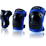 Kids Protective Gear,Knee Pads Elbow Pads Wrist Guards 3 in 1 Set for Inline Roller Skating Biking Cycling Sports Safe…
