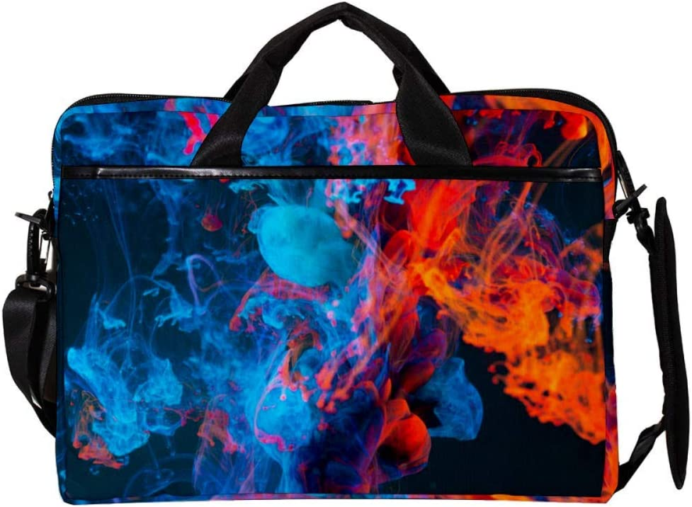 Anmarco Abstract Smoke Dillusion 14 Inch15 Inch Laptop Shoulder Messenger Bag Crossbody Briefcase Messenger Sleeve for 14 Inch to 15.4 Inch Laptop