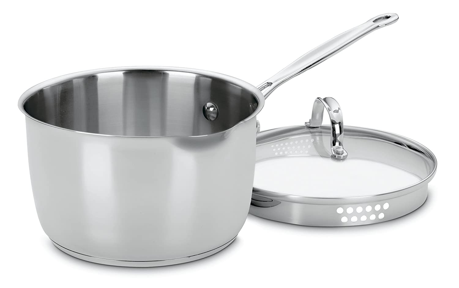 Chef's Classic Stainless 3-Quart Cook and Pour Saucepan