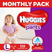 Huggies Wonder Pants Diapers Monthly Pack, Large (128 Count)