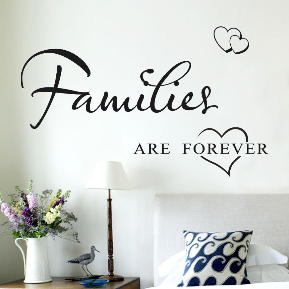 DIY Wall Art Decals,HP95(TM) [Families Are Forever ] Removable Wall Stickers Room Home Decor