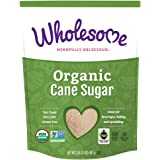 Wholesome Sweeteners Organic Cane Sugar, 16 Ounce, 12 Pack