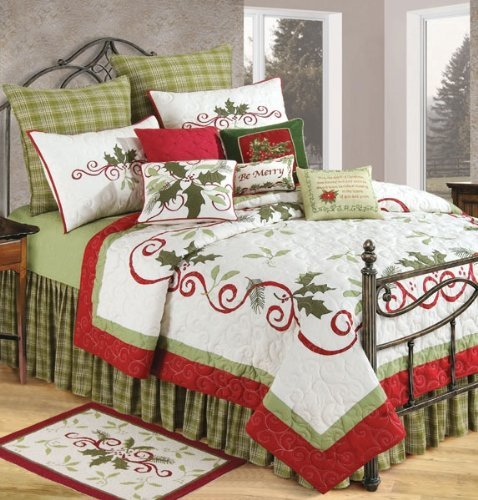 C & F Enterprises Holiday Garland Holiday Quilt