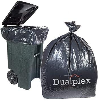 Dualplex 64 Gallon 50 inches X 60 inches Black Trash Bags