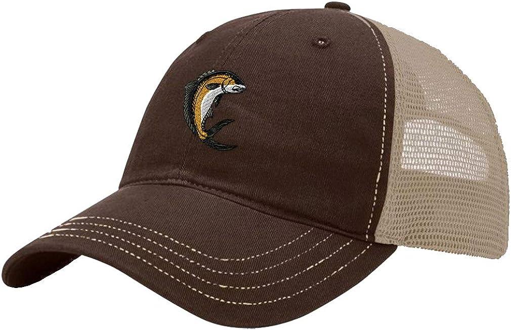 Custom Trucker Hat Richardson Amberjack Embroidery Animal Name Cotton Snaps