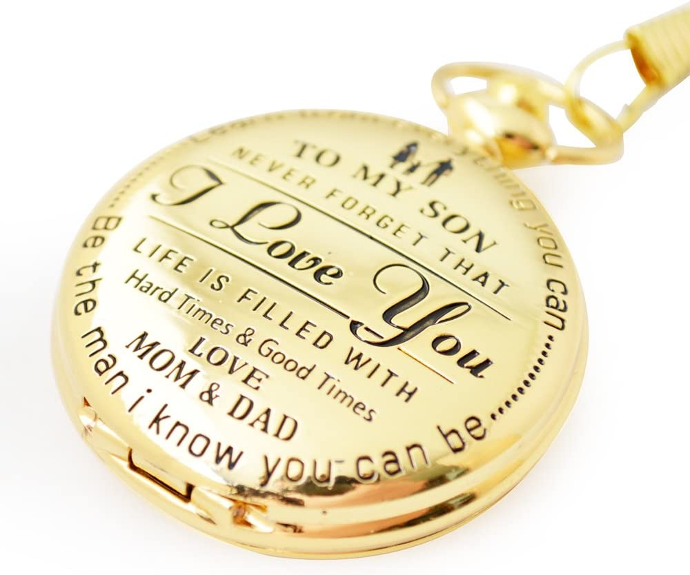 Mother to Son Gifts Perfect Gifts For Son Love Dad and Mom/' Gift to Son Xmas Present with Black Gift Box Dad to son Keswon I love you Birthday//Graduation Present Engraved /'To My Son