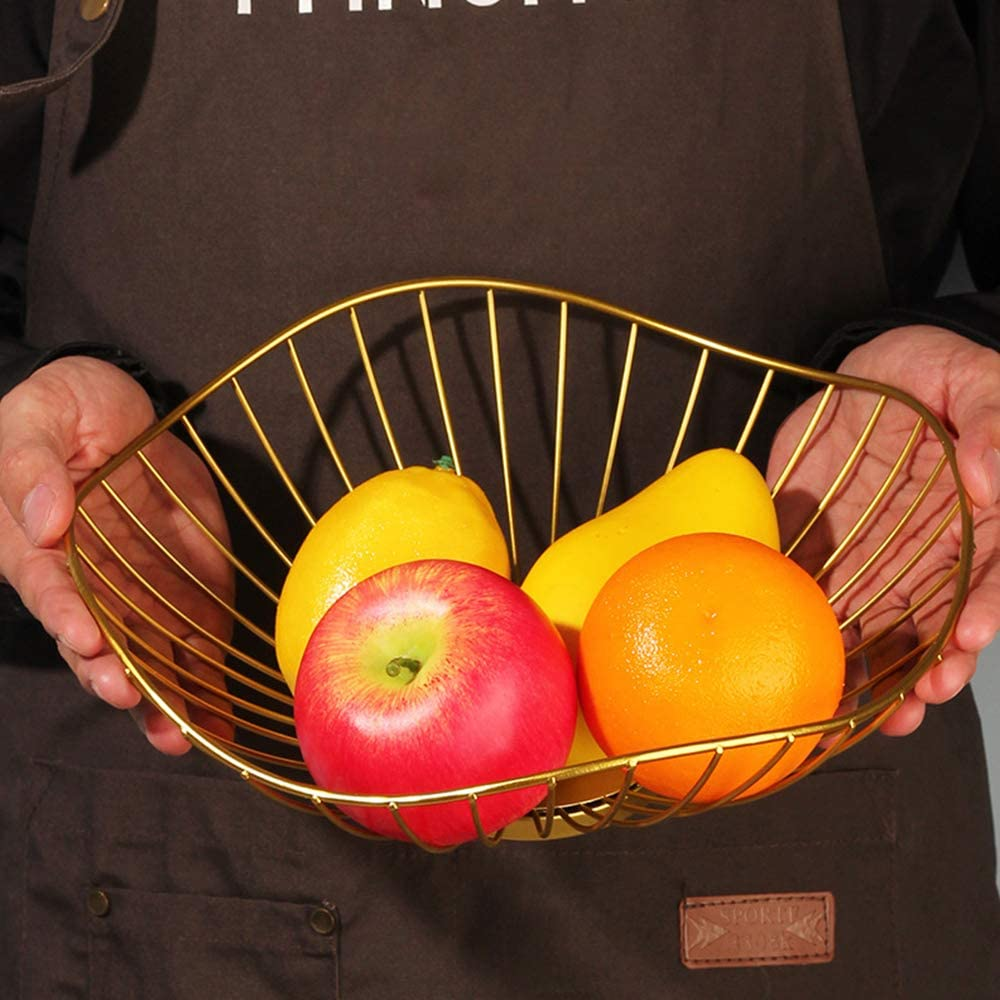 N\O Besylo Fer Forg/é Fruit l/égumes Panier Corbeille Creux en Fer Panier /à Fruits pour D/écoration Le Comptoir et Stockage des Fruits Corbeille /à Fruits,Corbeille /à Fruits en Fer