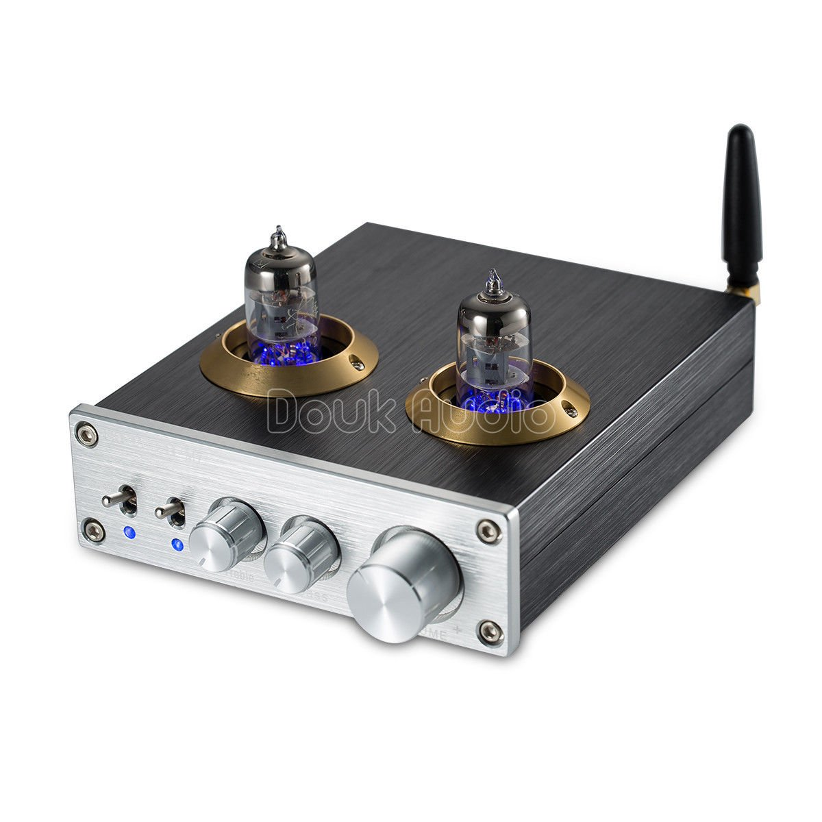 Nobsound Bluetooth HiFi 6J1 Vacuum Tube Preamplifier Stereo PreAmp Digital Treble & Bass Tone Control (Silver)