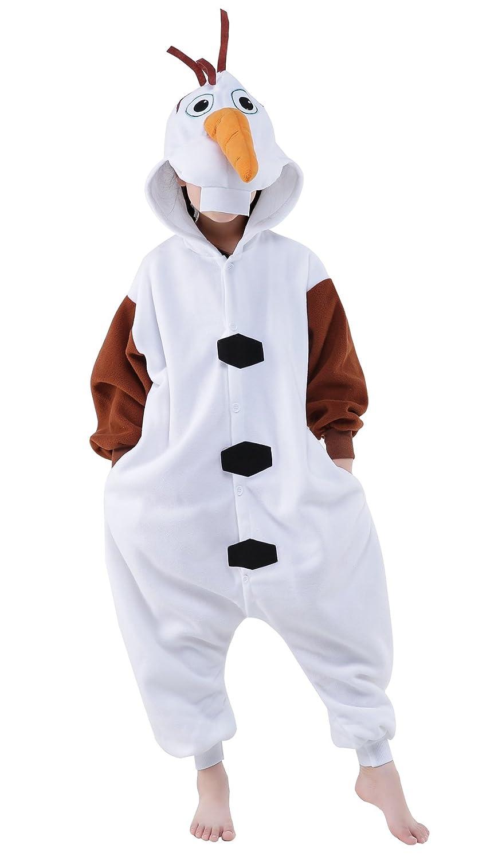 NEWCOSPLAY Halloween Children Olaf Unisex Pajamas Costume Cosplay