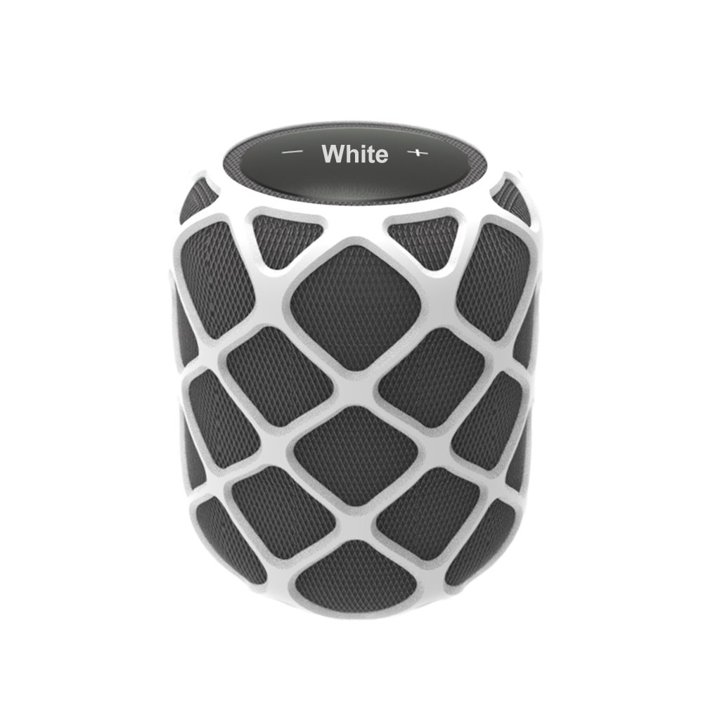 TenCloud Anti-Slip Silicone Case for HomePod,Decor&Protector Cover Portable Sleeve for Apple HomePod Siri Smart Speaker,Smooth Mesh Holes Allow Fidelity Sound from HomePod (White) by TenCloud