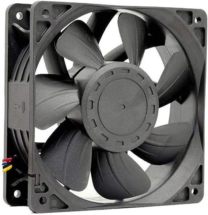 CAOQAO - Repuesto del Ventilador de refrigeración 6500 RPM, Conector de 4 Pines para Antminer Bitmain S7 S9, edición LED, Ventilador de Caja para Ordenador: Amazon.es: Hogar