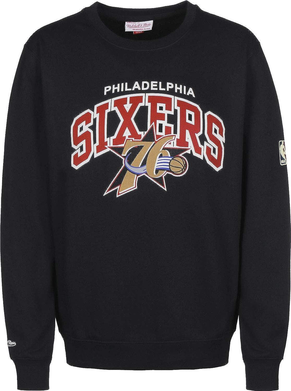 Mitchell & Ness Philadelphia 76ers HWC Arch Logo Crewneck schwarz NBA Sweater Pullover Herren Men B07L9XNZM7 Pullover Personalisierungstrend