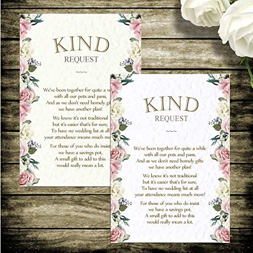 10 Wedding Moneygift Poem Cards Vintage Rustic Tea Party Hammered