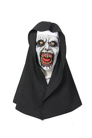 Mesky The Nun Máscara para Halloween Mask Valak Monja el Diablo Disfraz de Terror Casco Accesorio