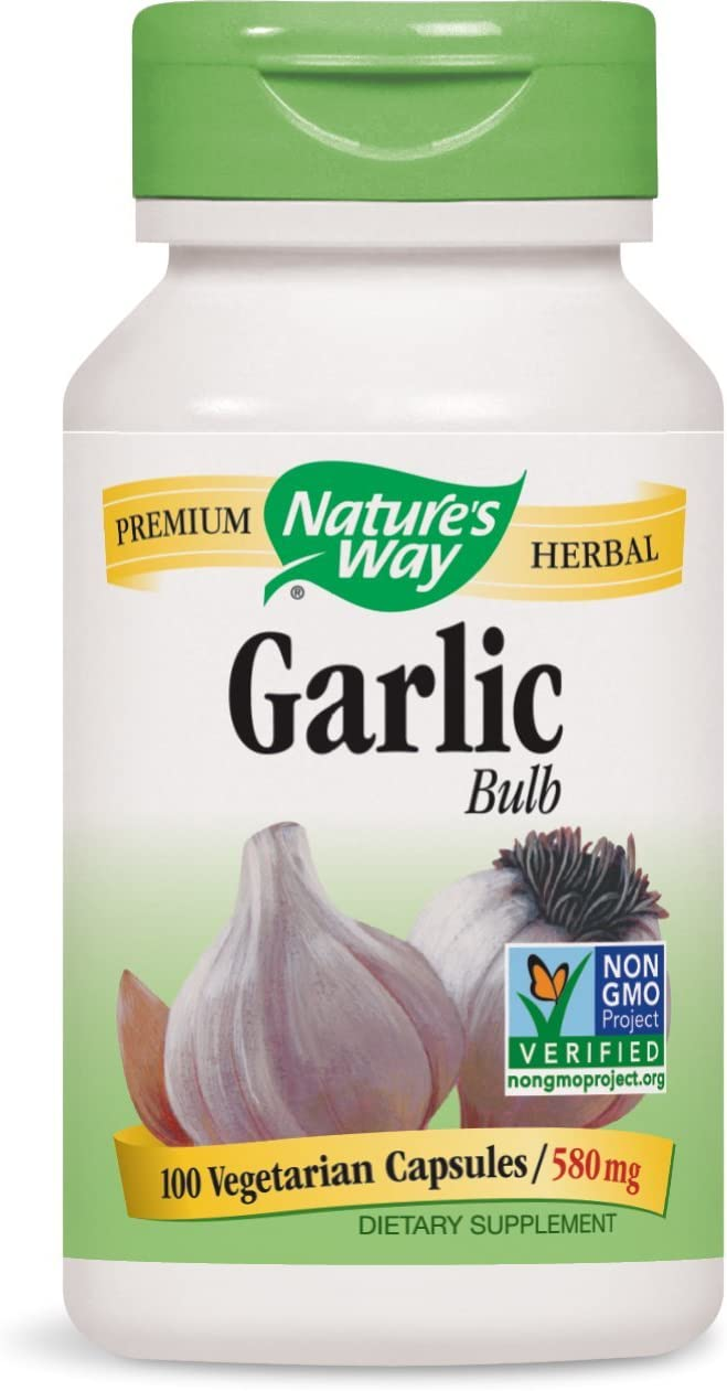 Nature s Way Garlic Bulb, 580mg, 100 Capsules Pack of 2