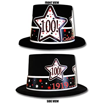 Amazon 1919 100th Birthday Top Hat Each By Partypro Health