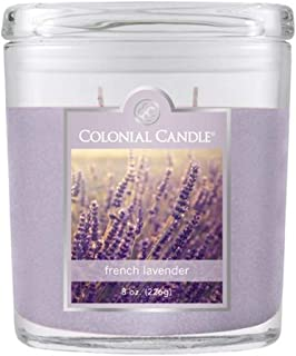 product image for Colonial Candle French Lavender Jar Candle, 8 oz, Purple