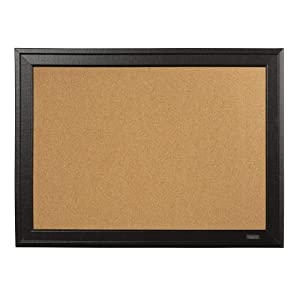 "Quartet Cork Board, 11"" x 17"" Bulletin Board, Home Décor Corkboard, Black Frame (79279)"