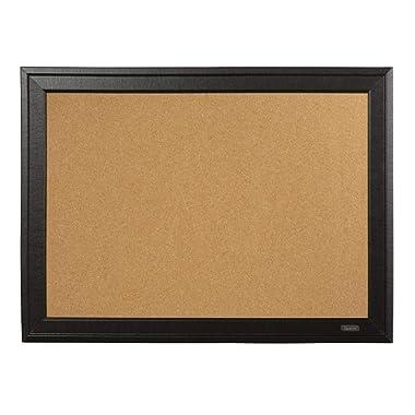 Quartet Cork Board, 11  x 17  Bulletin Board, Home Décor Corkboard, Black Frame (79279)