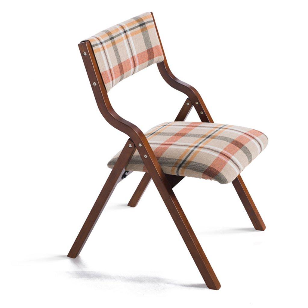 Chen- Simple solide bois pliant chaise moderne à la maison tissu à manger chaise Mahjong bureaux et chaises Retour