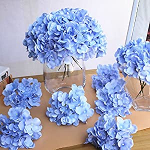 10Pcs/Lot Colorful Flower Head Artificial Silk Hydrangea Arch Background Wall 107