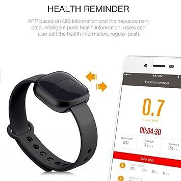 Dailyinshop Bluetooth Reloj Inteligente Deportes al Aire Libre con Pulsera de Moda Dispositivo (Color: