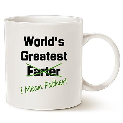 Amazon.com: Funny Christmas Gifts Best Dad Coffee Mug - World\'s ...