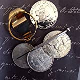 Silver Dollar Coin Money Clip for Morgan & Peace Dollars: Guaranteed to fit US Silver Dollars dated 1878-1978