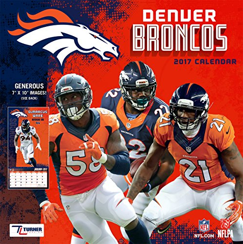 Turner Licensing Sport 2017 Denver Broncos Mini Wall Calendar (17998040561)