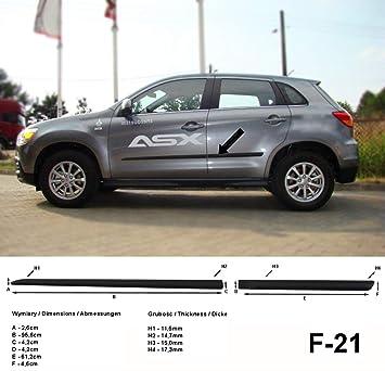 Spangenberg Listones de protección Lateral, Color Negro, para Mitsubishi ASX SUV Combi Antes de