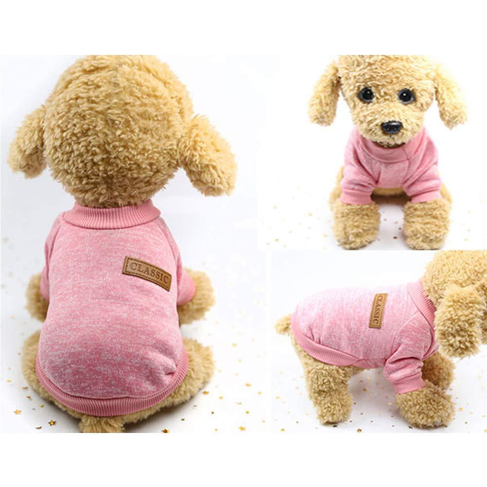 Perro Mascota Suéter de Punto Suave - Clásico Moda De Lana Calentar ...
